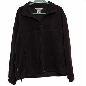 Columbia large fleece brown zip up coat